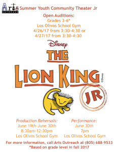 Lion King Audition Flyer
